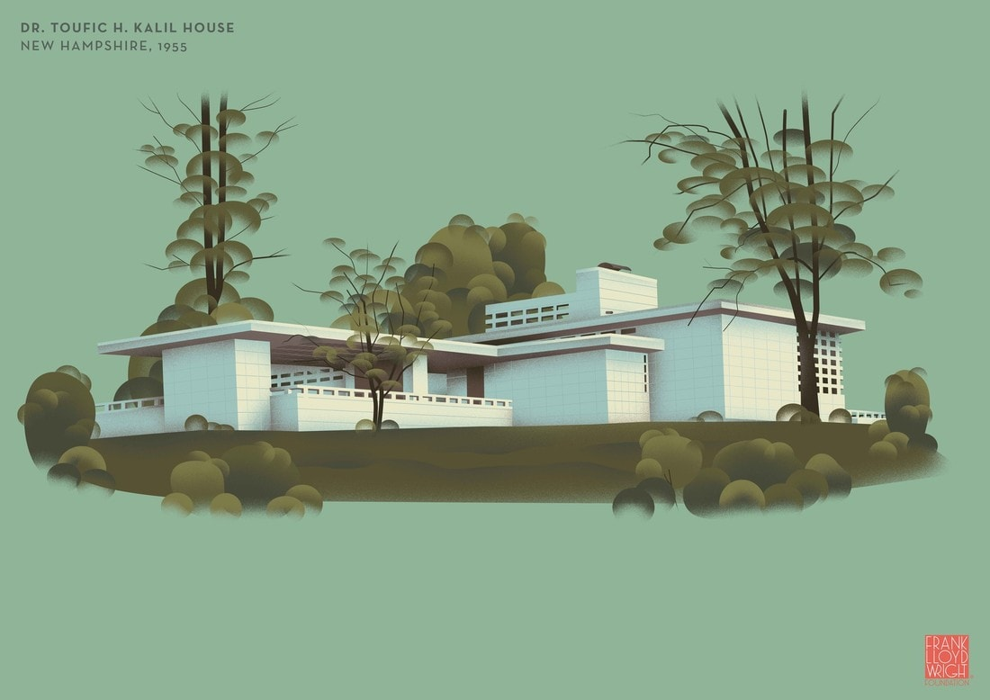 Frank Lloyd Wright, Dr Toufic H Kalil House