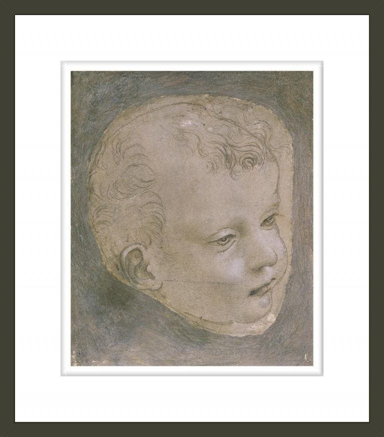 Head of a Child (pencil on paper)
