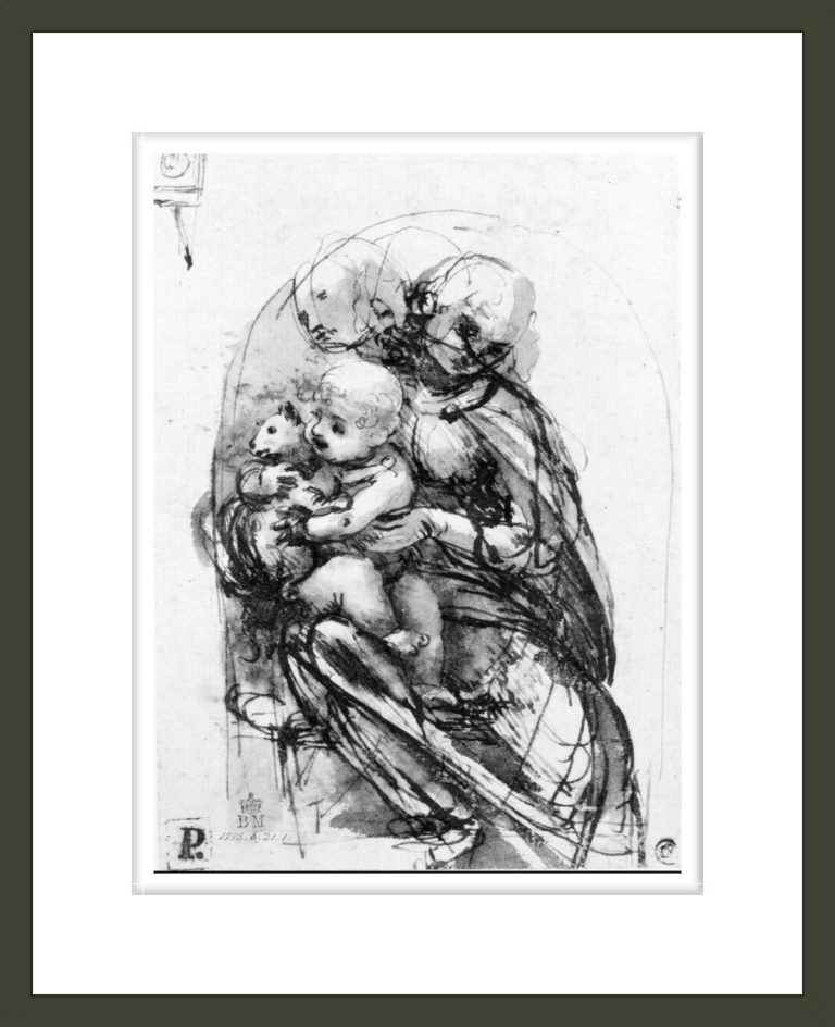 Study for a Madonna with a Cat