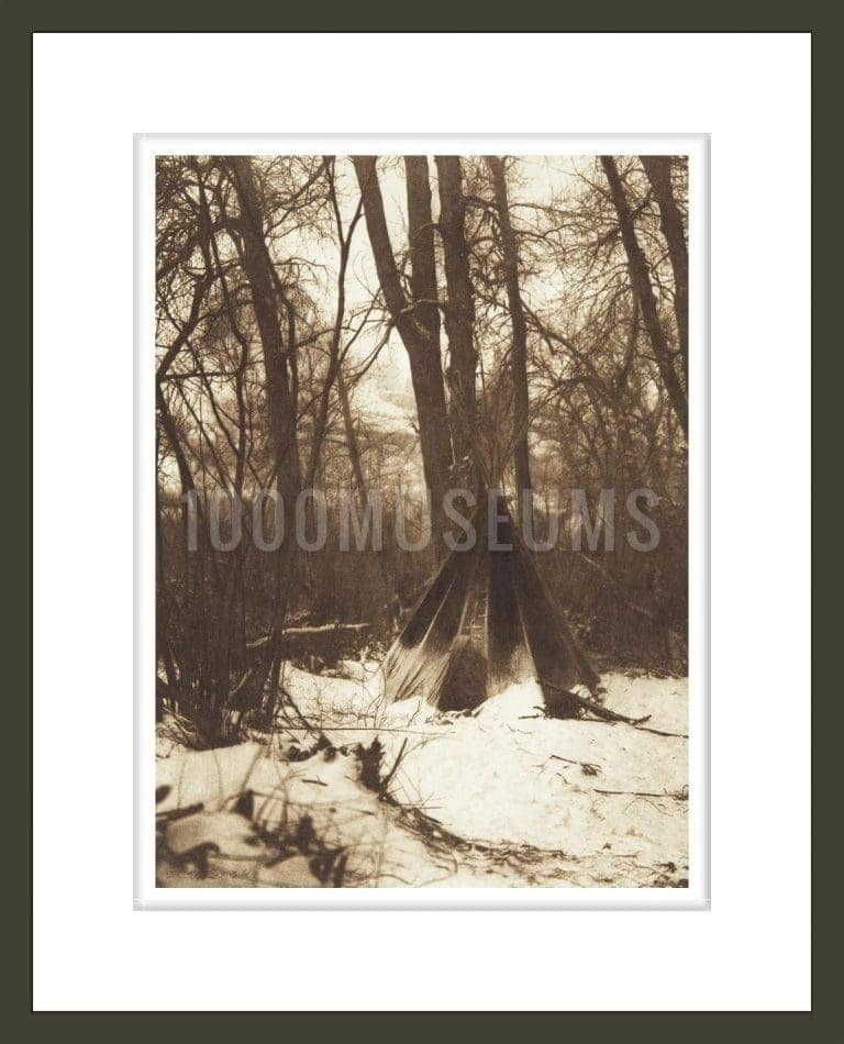 In the Forest [Apsaroke] (The North American Indian, v. IV. Cambridge, MA: The University Press, 1909)
