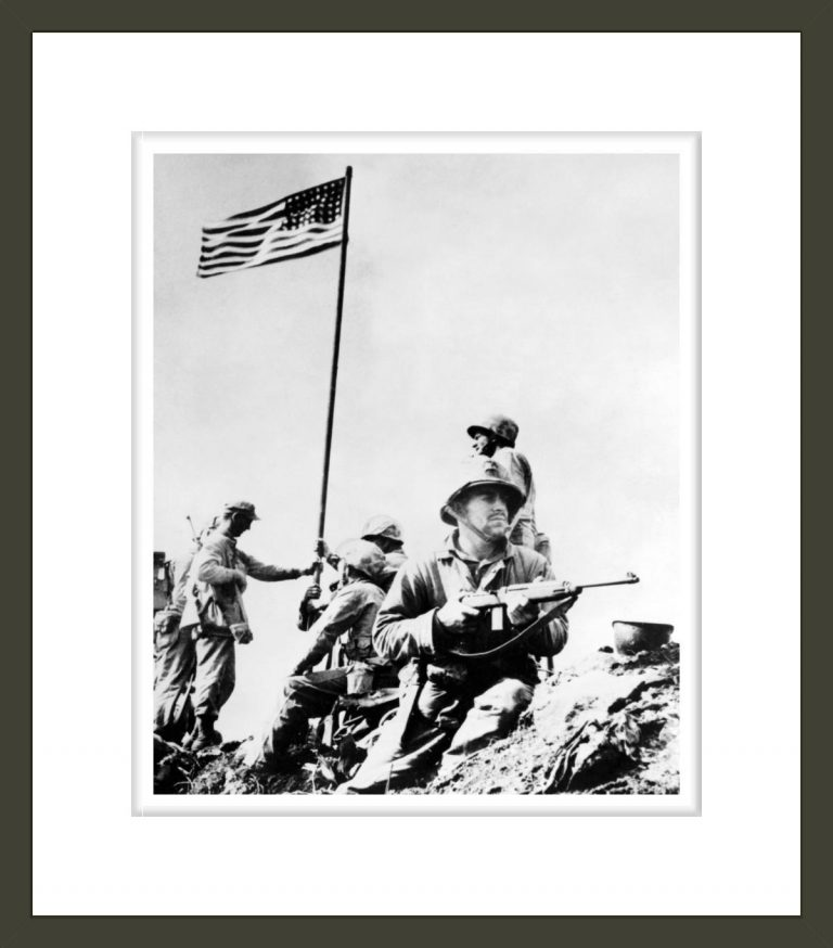 First Flag Set Atop Mt. Suribachi