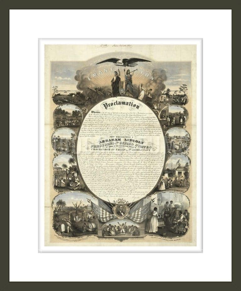 Commemorative Copy of the Emancipation Proclamation