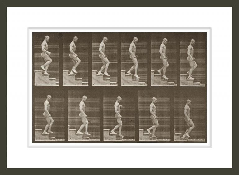 Nude man descending stairs (Animal Locomotion, 1887, plate 126)