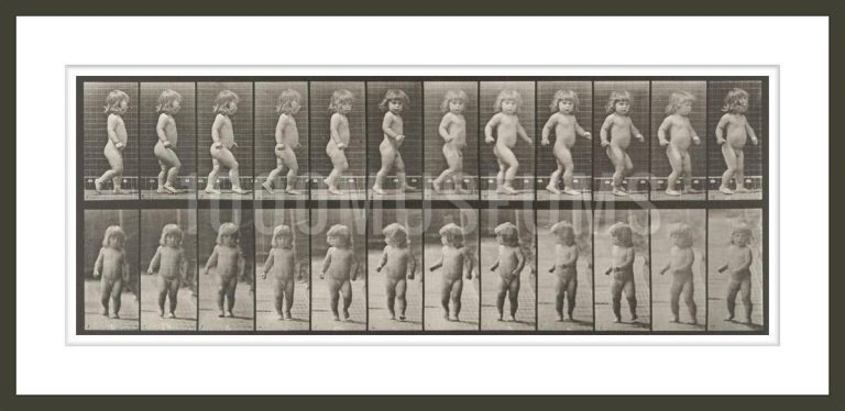 Nude child walking (Animal Locomotion, 1887, plate 468)