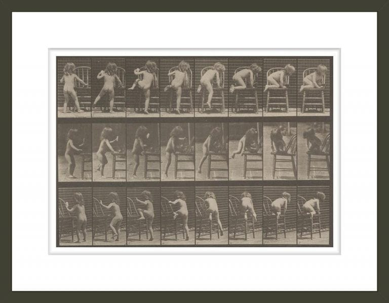 Nude child climbing (Animal Locomotion, 1887, plate 475)