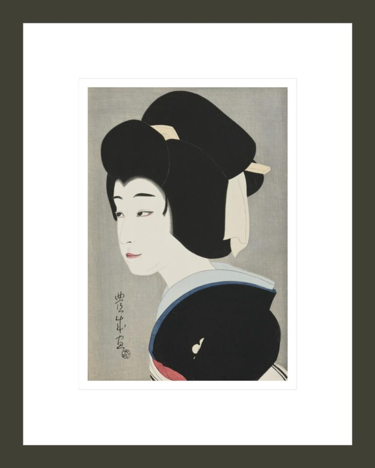 Sonosuke as Umegawa, from the series Flowers of the Theatrical World (Rien no hana)
