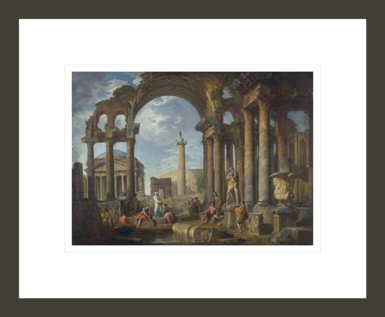 A Capriccio of Roman Ruins with the Pantheon