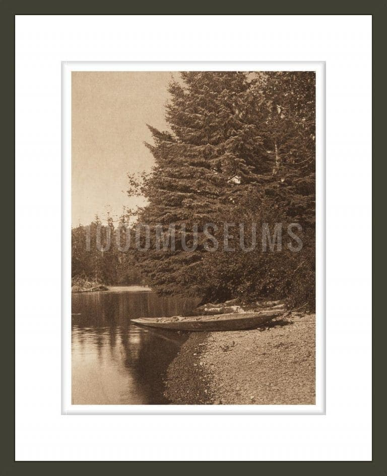 On Quinault River (The North American Indian, v. IX. Norwood, MA: The Plimpton Press, 1913)