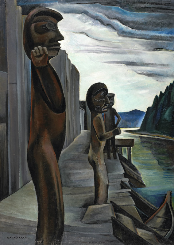 1930 Emily Carr Blunden Harbour Totems
