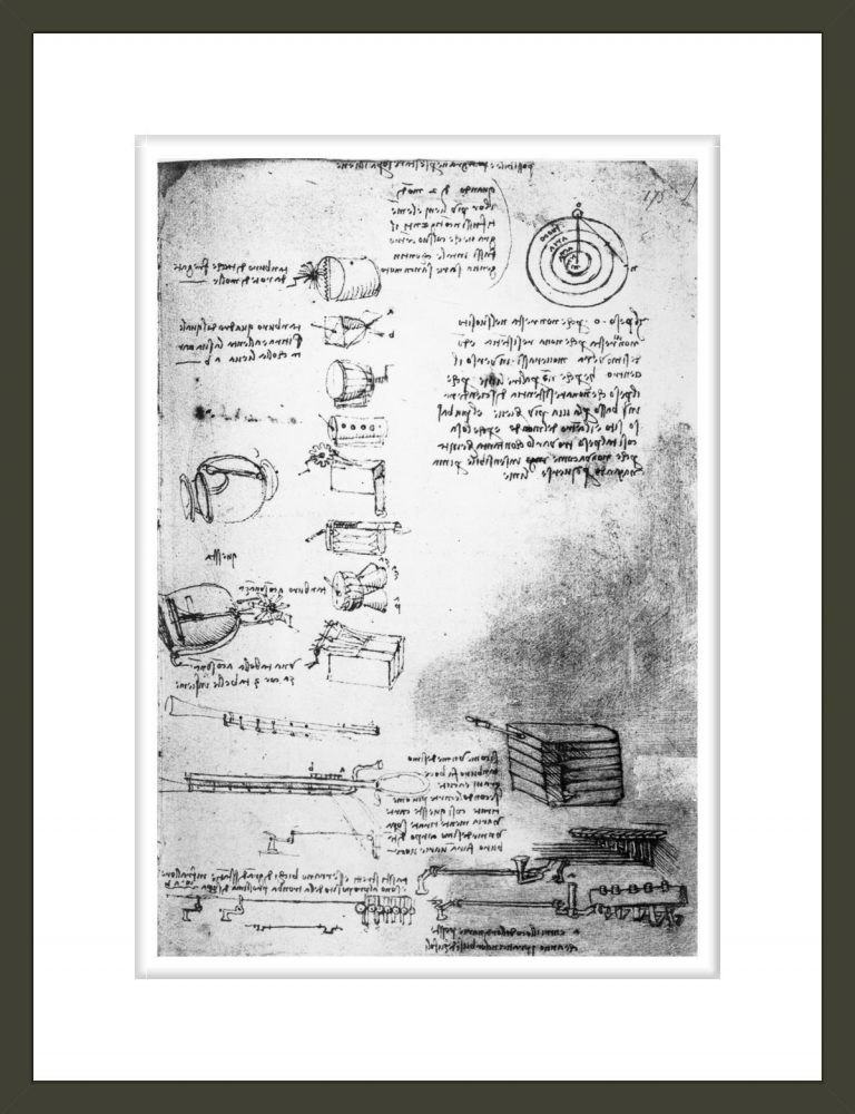 Facsimile of a page from the Codex Arundel, 1490s-1518 (pen & ink on paper)