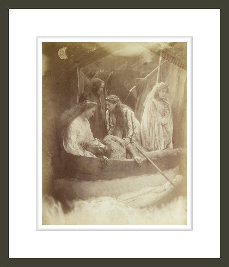 The Passing of King Arthur, Illustration from 'Idylls of the King' by Alfred Tennyson (1809-1892), 1874