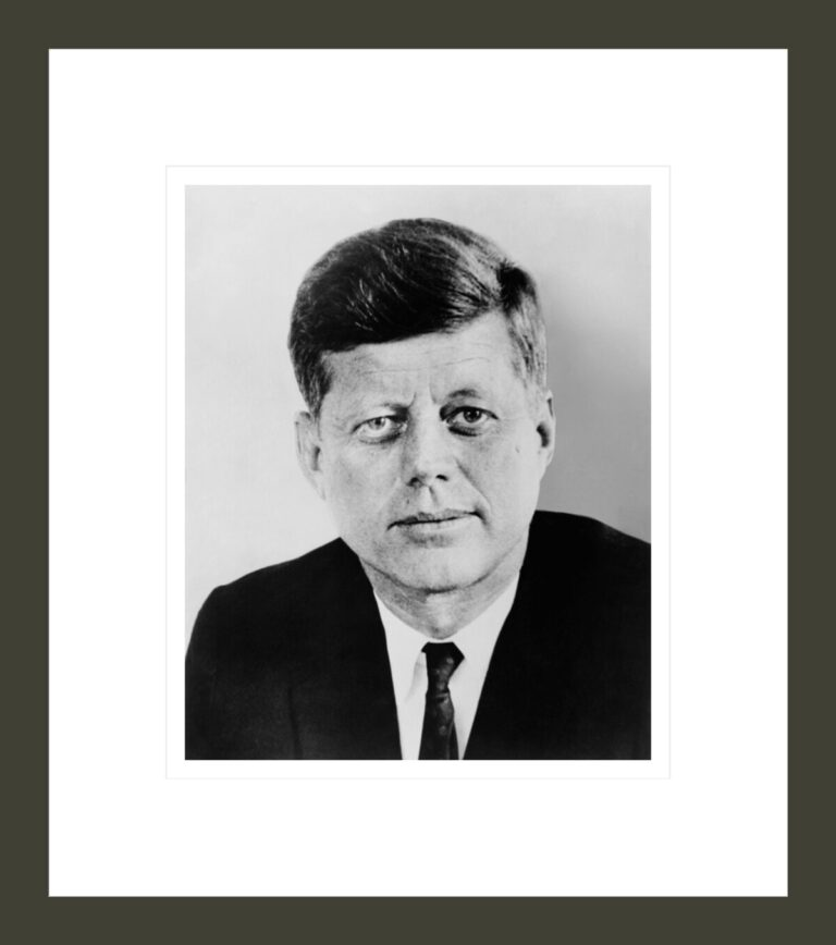 [President John F. Kennedy, head-and-shoulders portrait, facing front]