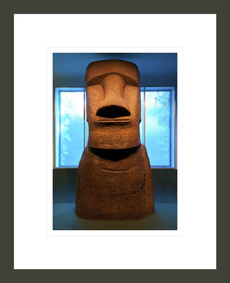 Easter Island statue in the Margaret Mead Hall of Pacific Peoples