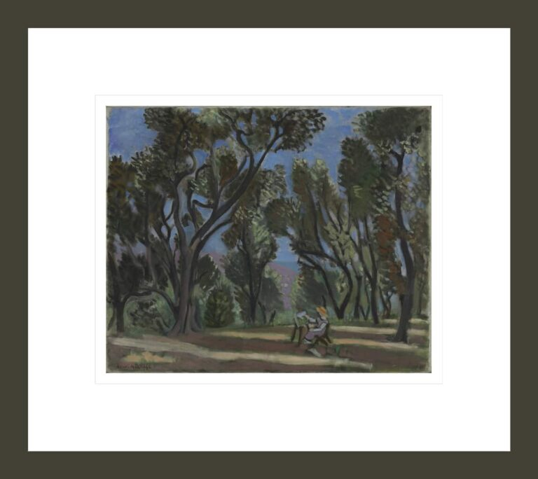 Painter in the Olive Grove