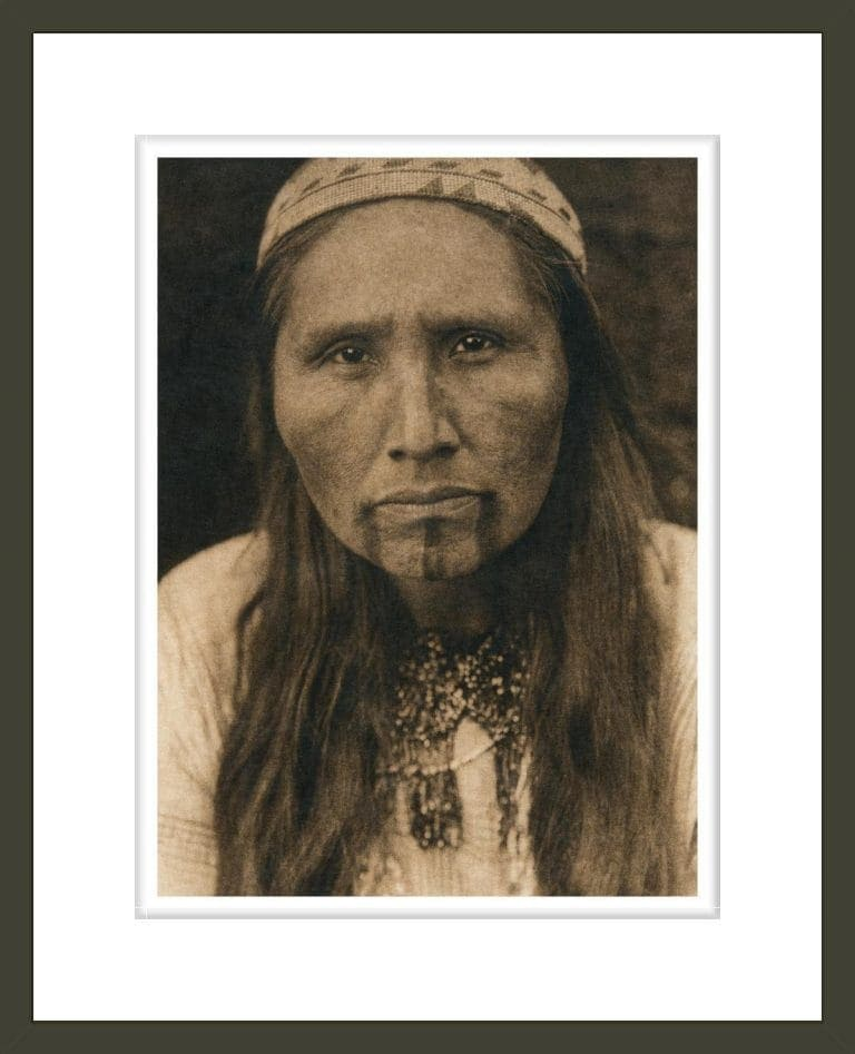 Tolowa tattooing (The North American Indian, v. XIII. Norwood, MA, The Plimpton Press)