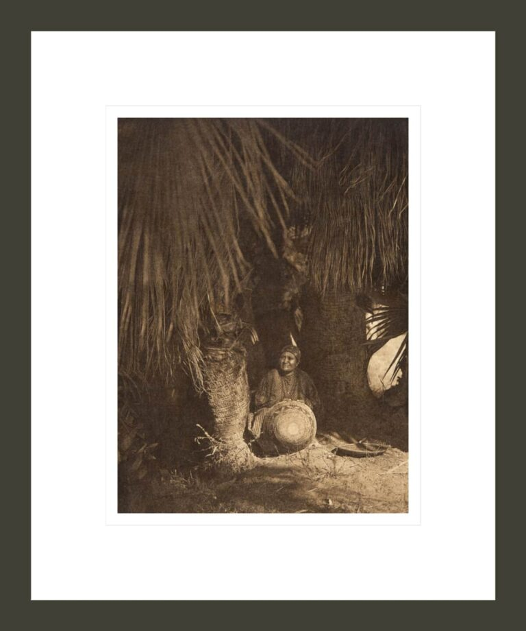 Under the palms - Cahuilla (The North American Indian, v. XV. Norwood, MA, The Plimpton Press)