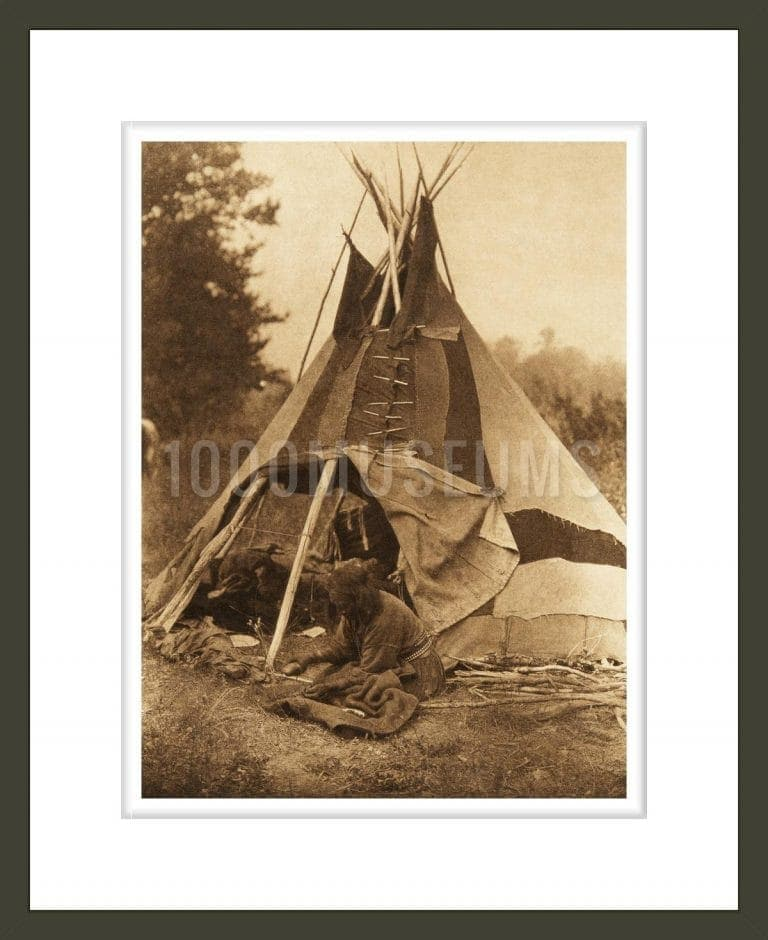 A Sarsi tipi (The North American Indian, v. XVIII. Norwood, MA, The Plimpton Press)