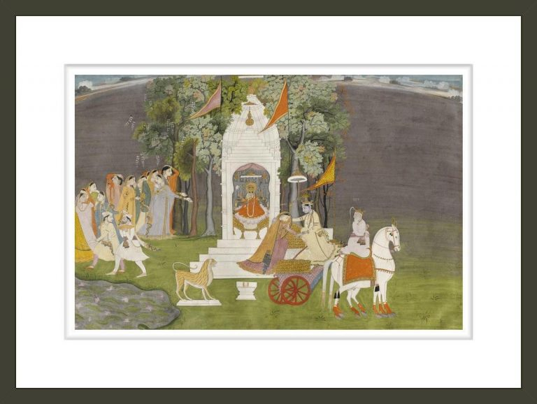Krishna Abducting Rukmani from the Temple