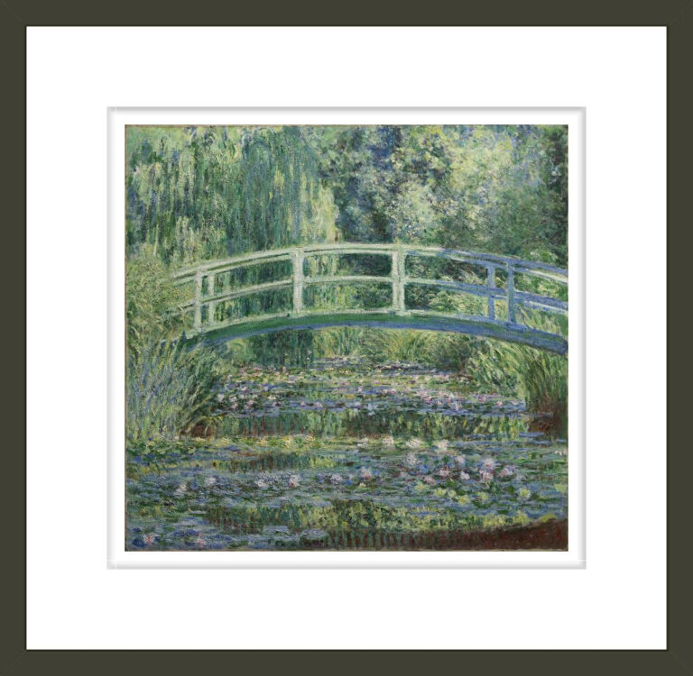 Water Lilies and Japanese Bridge