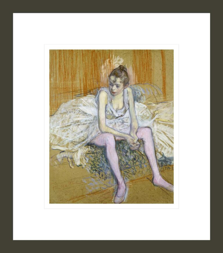 A Seated Dancer with Pink Stockings