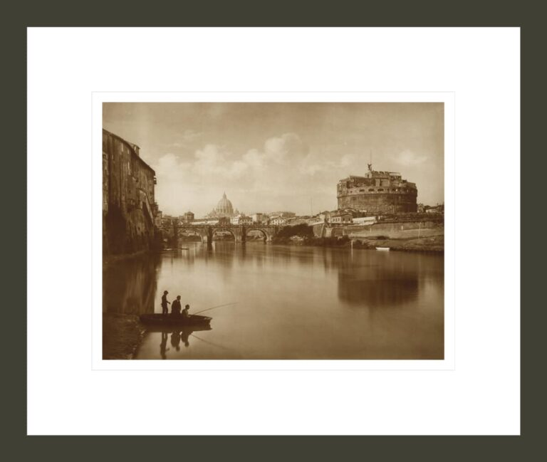 View of the Tiber, with Castle St. Angelo and Fisherman