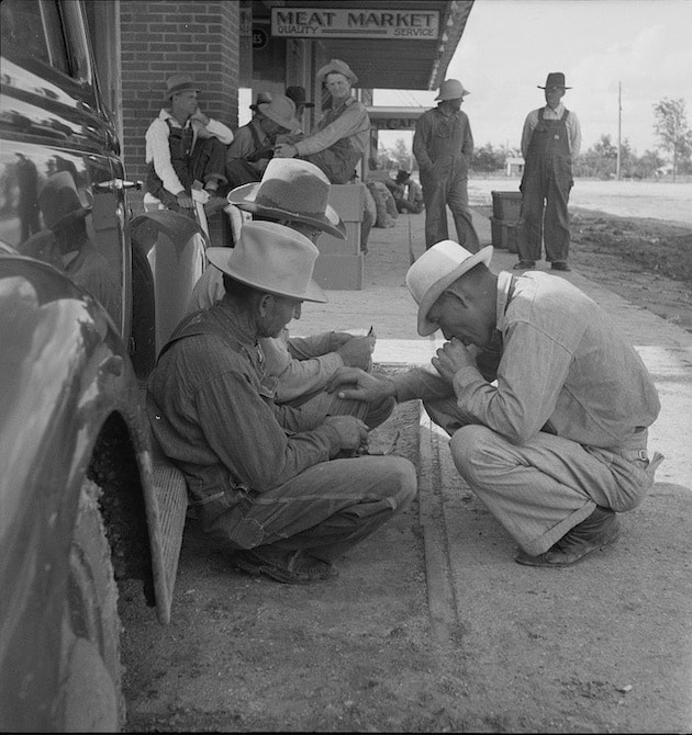Dorothea Lange, Dust Bowl Farmers in Town