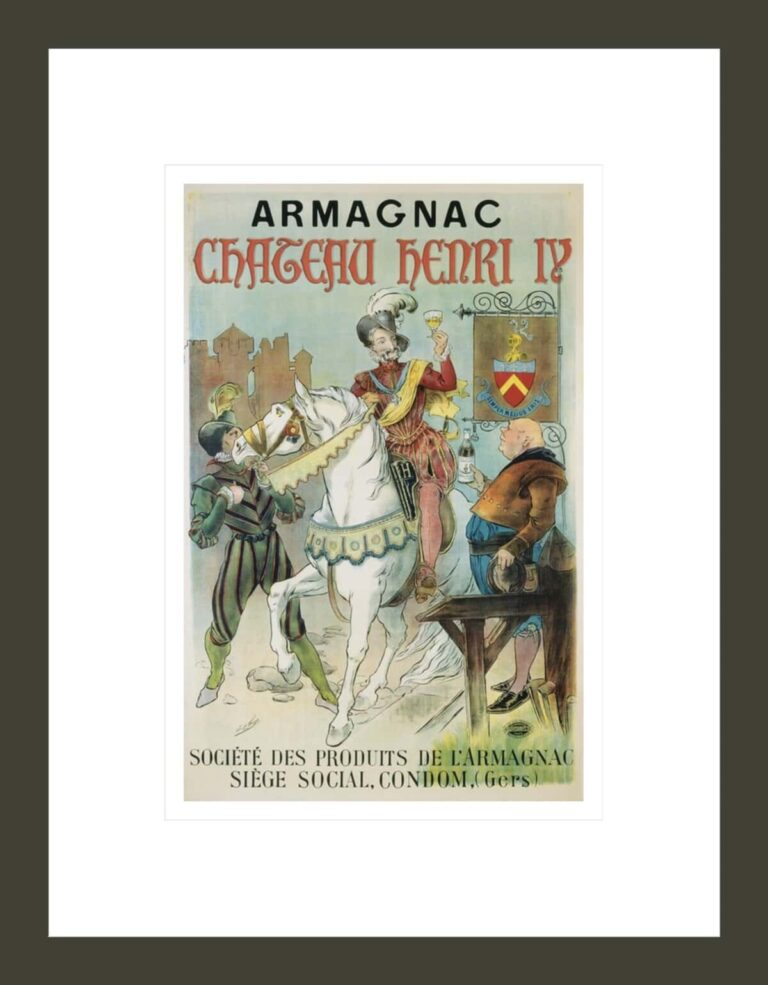 Armagnac Chateau Henry IV Poster