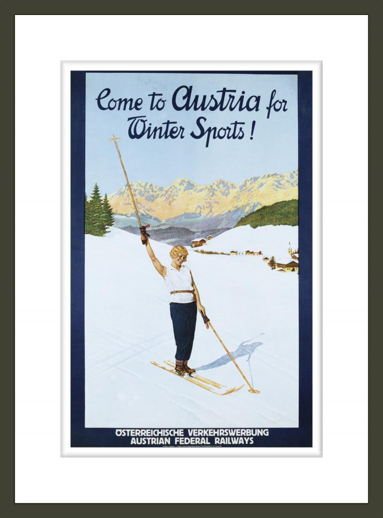 Austria for Winter Sports Poster