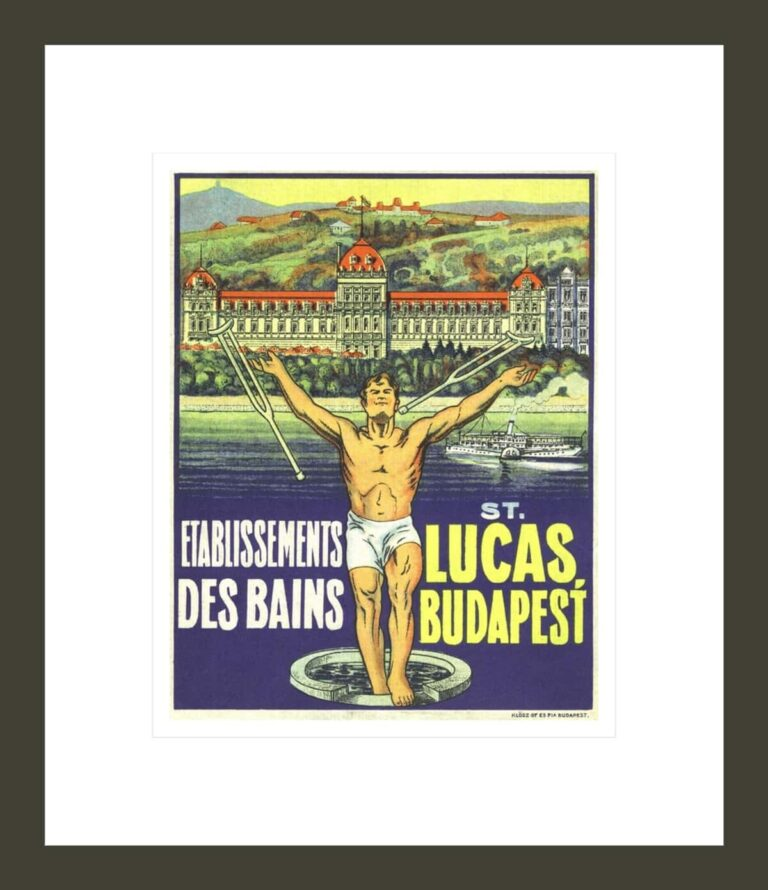 St. Lucas, Budapest Luggage Label