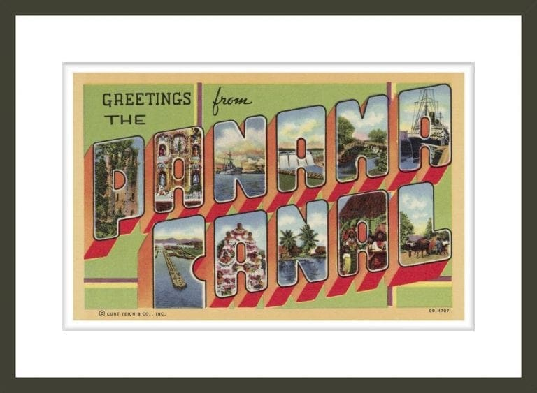 Greeting Card from the Panama Canal