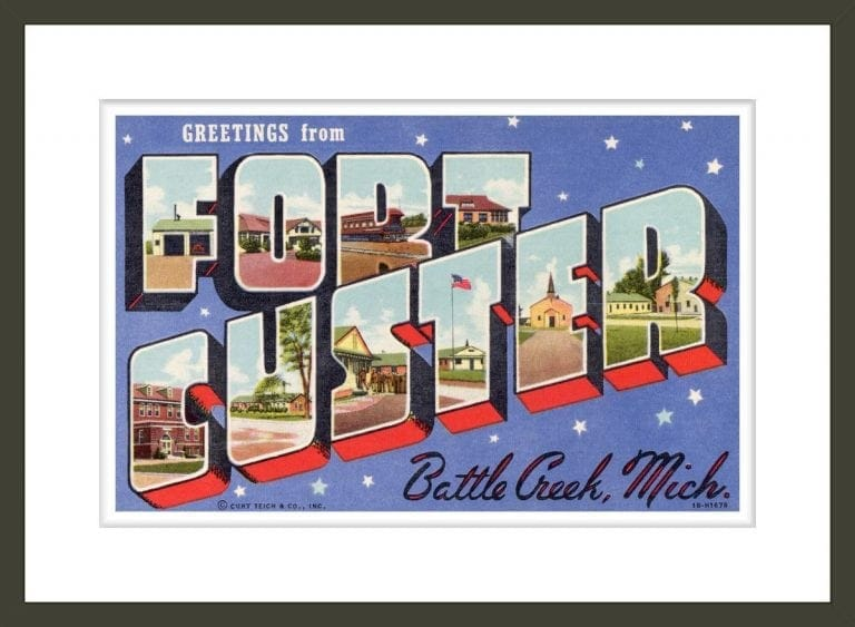 Greeting Card from Fort Custer