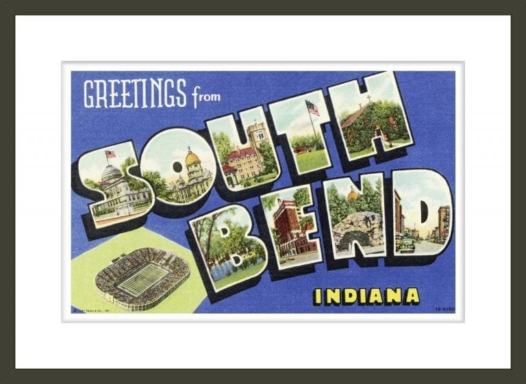 Greeting Card from South Bend, Indiana