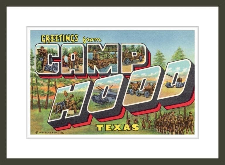 Greeting Card from Camp Hood, Texas
