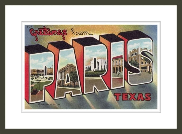 Greeting Card from Paris, Texas