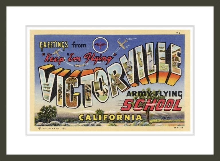 Greeting Card from Victorville Army Flying School