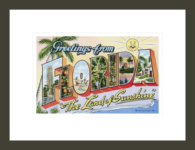Greetings from Florida,
