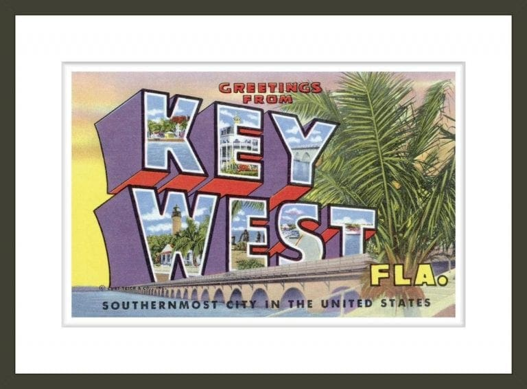 Postcard with Greetings from Key West