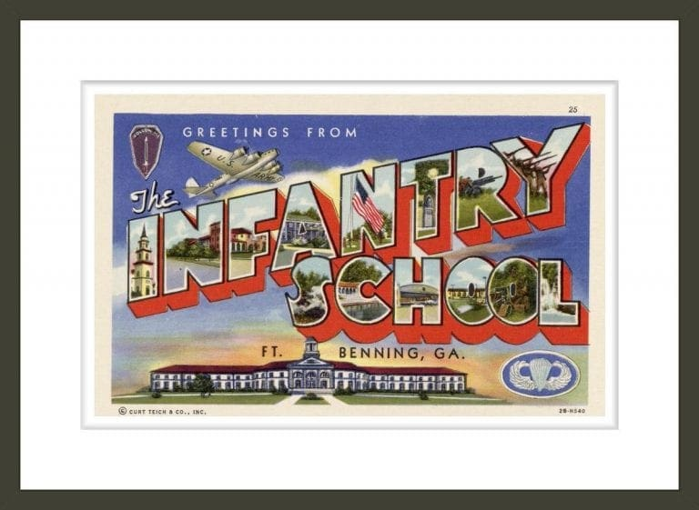 Greeting Card from Ft. Benning Infantry School