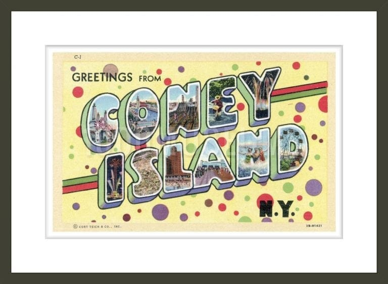 Greetings from Coney Island, New York Postcard
