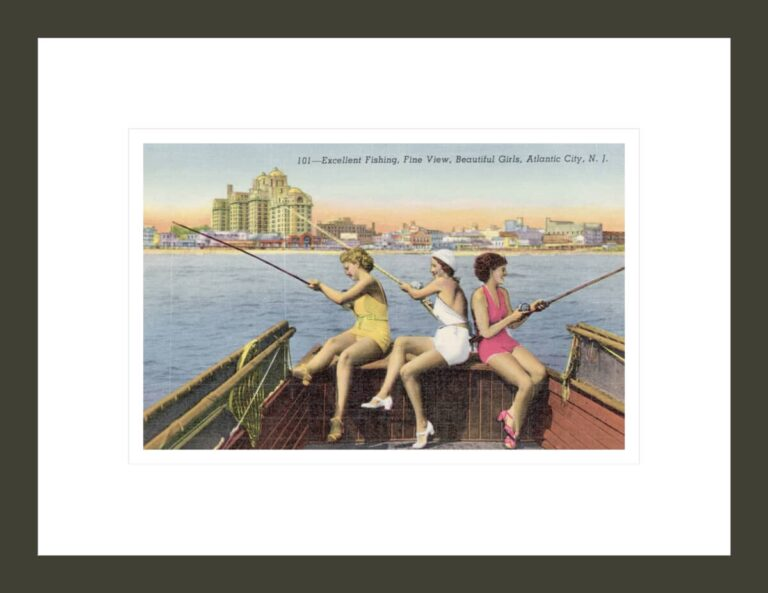 Women Fishing on Back of Boat