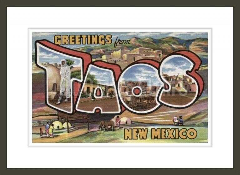 Greetings from Taos, New Mexico Postcard
