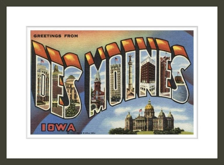 Greeting Card from Des Moines, Iowa