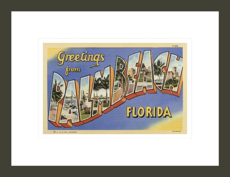 Greeting Card from Palm Beach, Florida