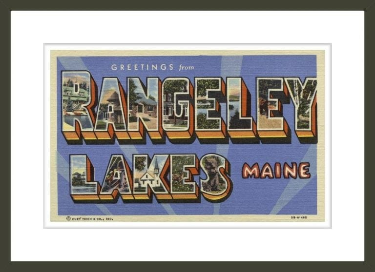 Greeting Card from Rangeley Lakes
