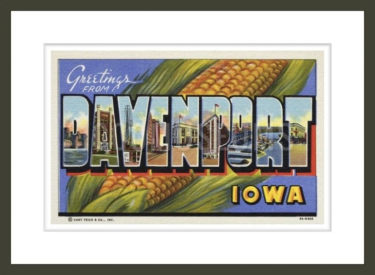 Greeting Card from Davenport, Iowa