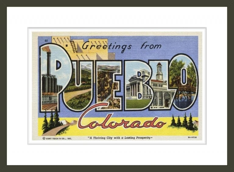 Greeting Card from Pueblo, Colorado
