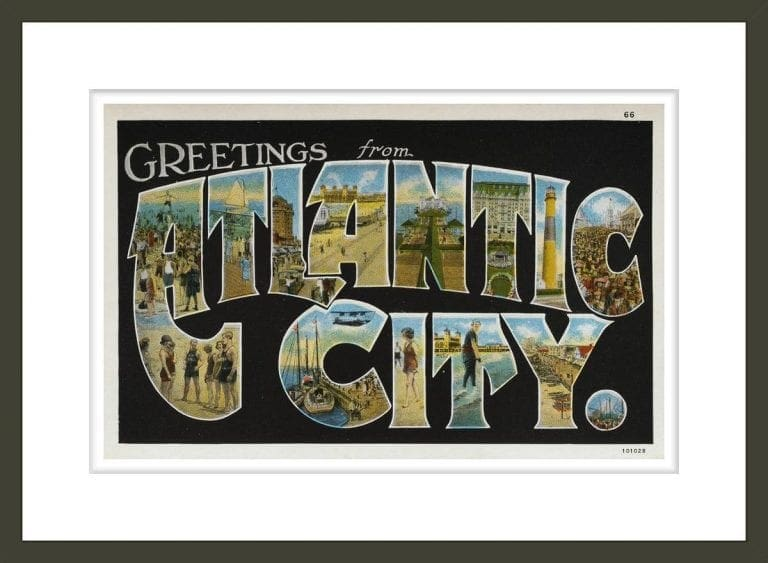 Greeting Card from Atlantic city