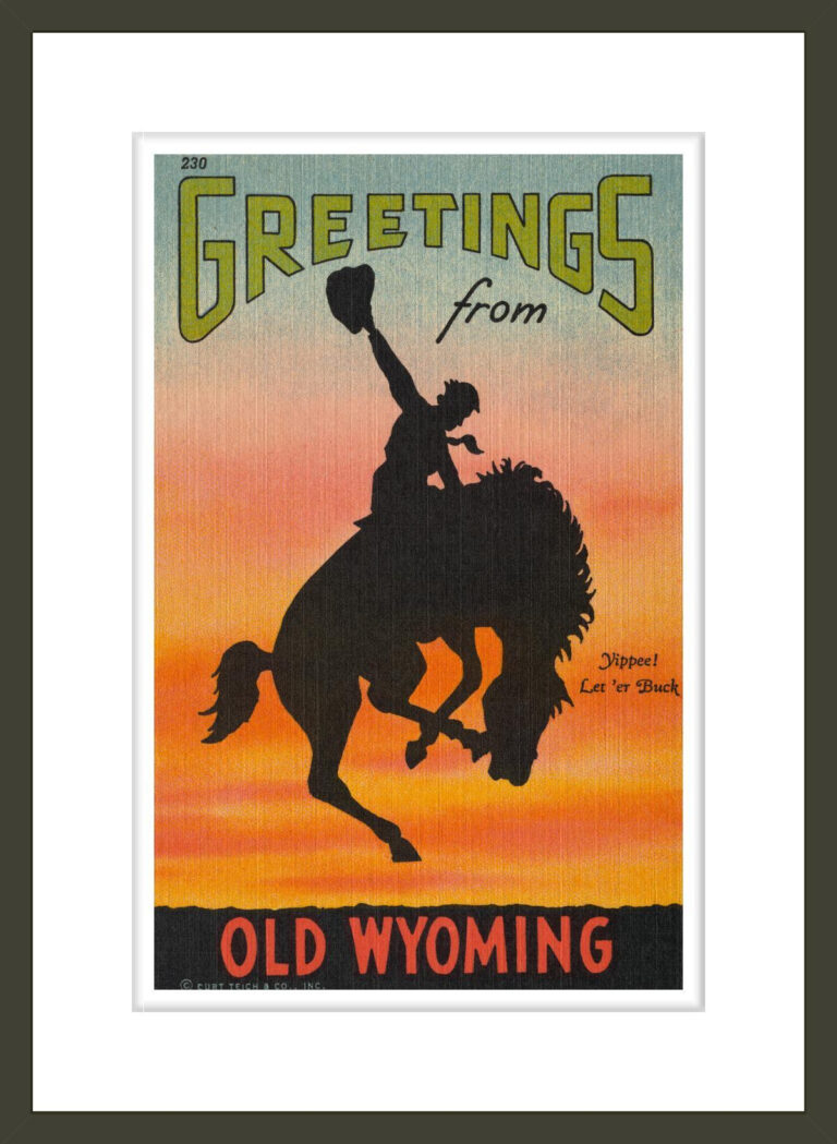Greetings from Old Wyoming Postcard