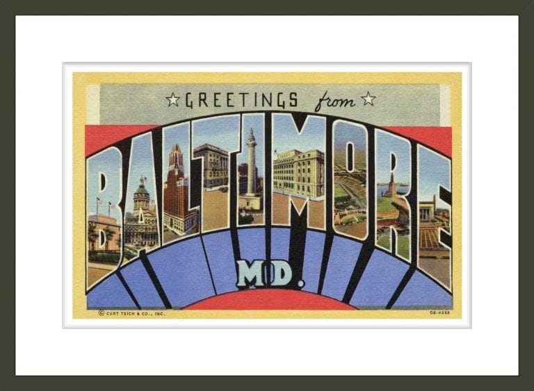 Postcard of Baltimore, Maryland