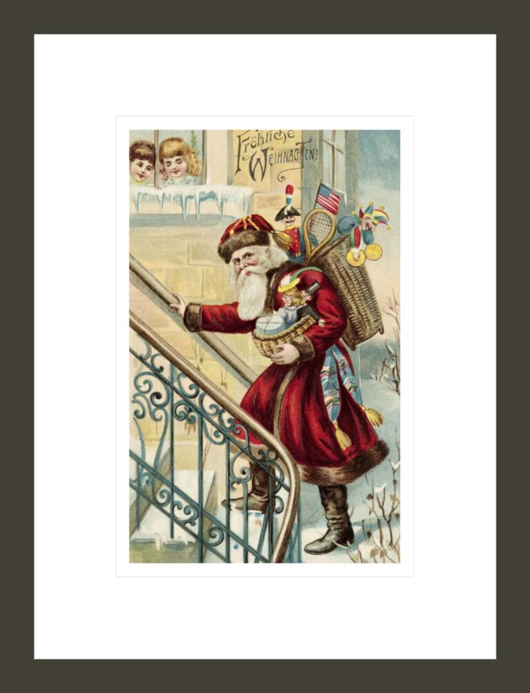 Postcard of Santa Claus Carrying Toys